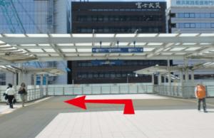 JR新横浜駅からのルート